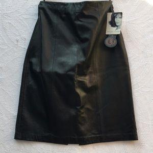 Jacklyn Smith classic. Lamb Leather skirt